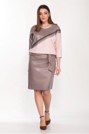 Комплект двойка 2132, джемпер 5090, юбка 4043 розовые тона