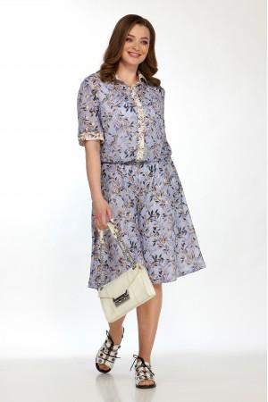 Комплект 2156 голубой, блузка 5101, шорты 4048