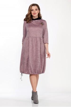Платье 1095 розовые тона